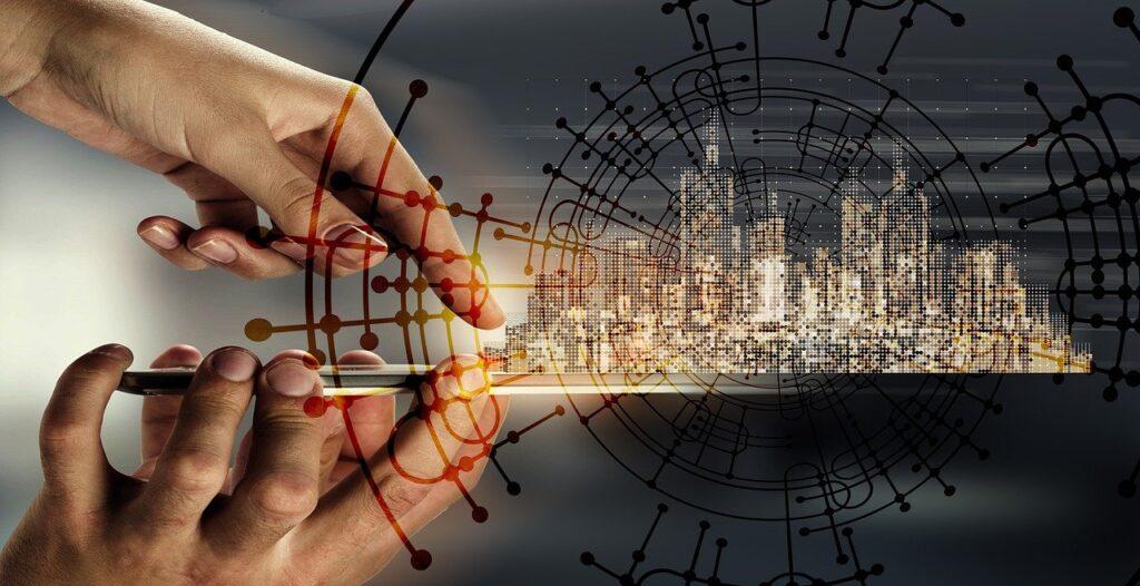 smartphone, control, city